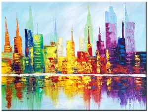 modern schilderij skyline