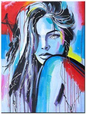 dame modern schilderij