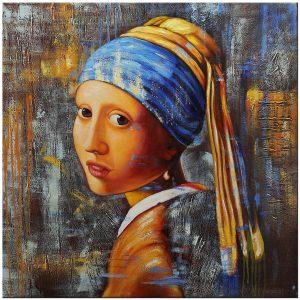 meisje met de parel schilderij modern