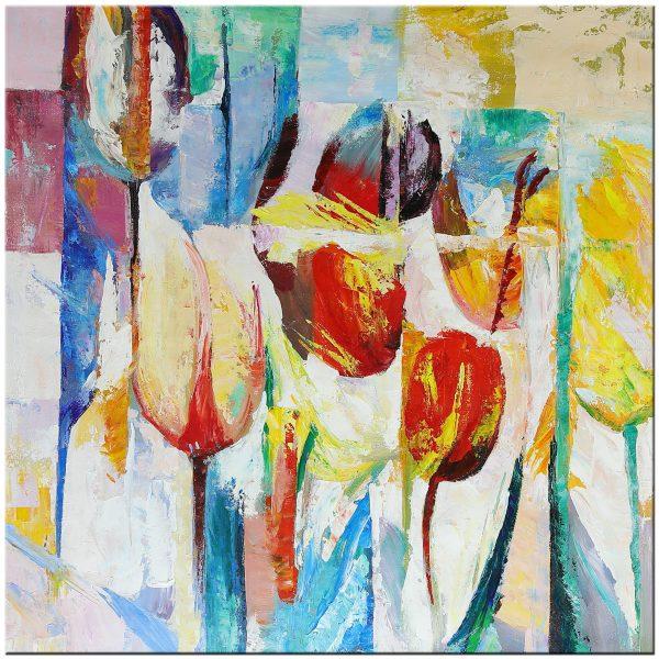 tulpen modern schilderij