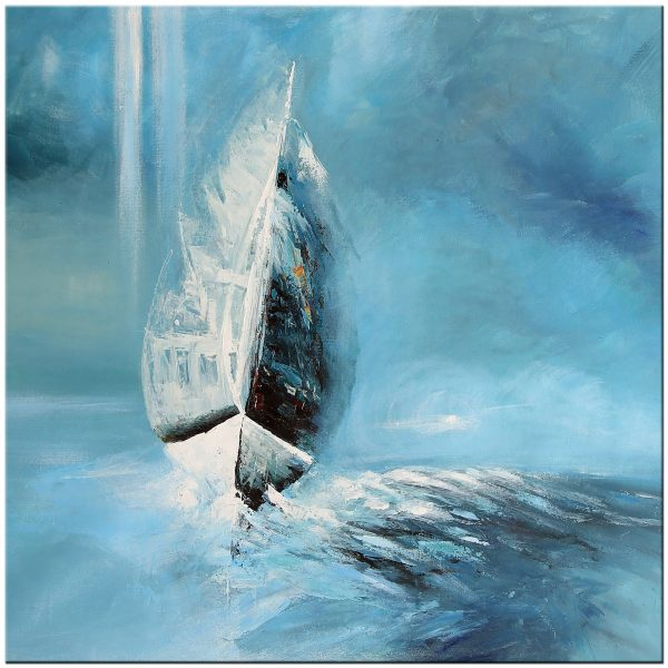 boot modern schilderij