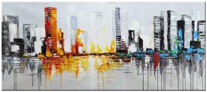 skyline modern schilderij