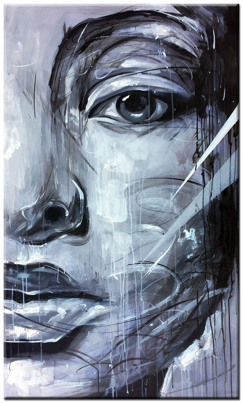 Verrassend Lady zwart/wit schilderij 70x120cm – Bestpainting.nl CM-65