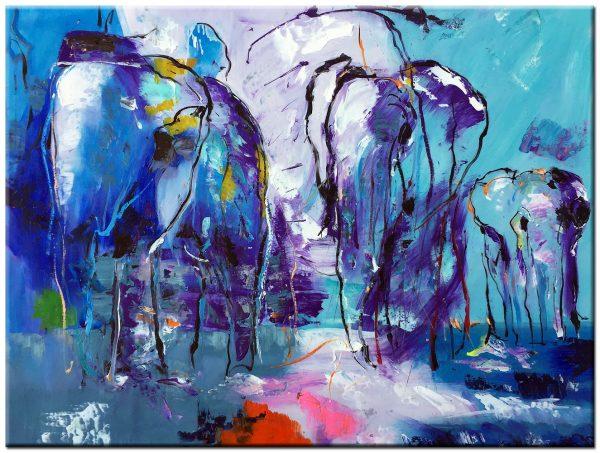 olifanten schilderij