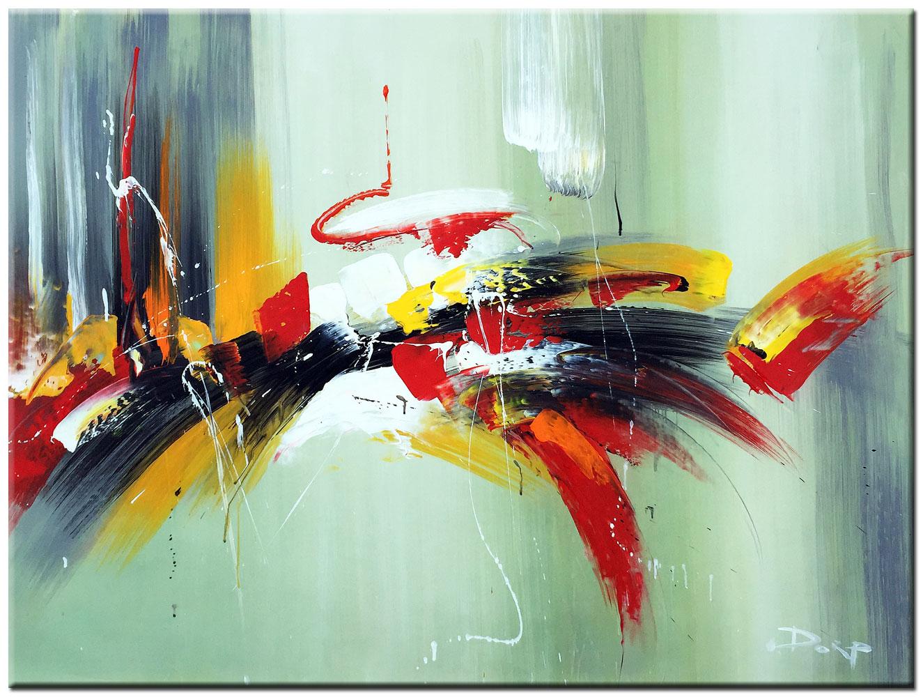 Top Bliksem abstract schilderij 120x90cm – Bestpainting.nl &QU63