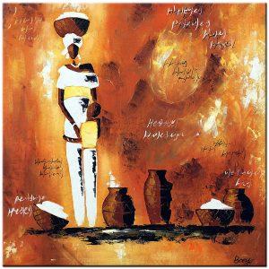 afrika olieverf schilderij