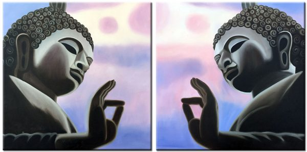 Boeddha spiritueel schilderij