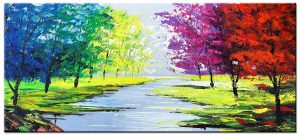 rivier modern groot schilderij