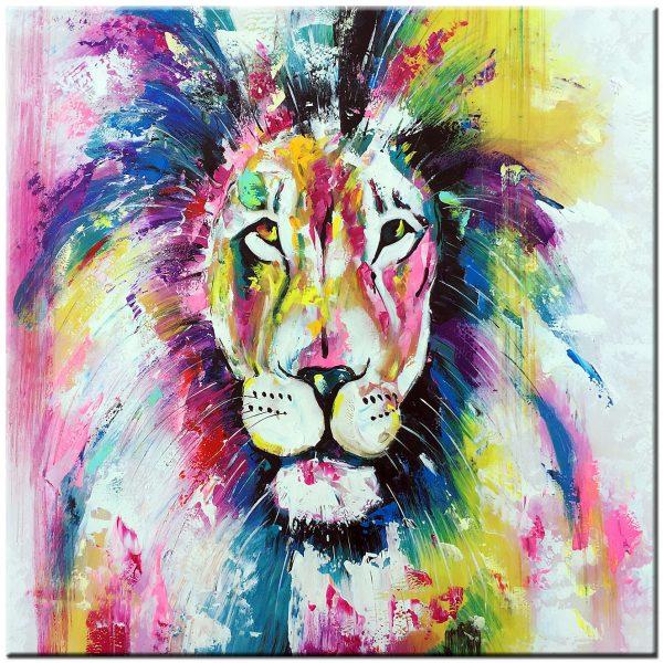 leeuw modern schilderij