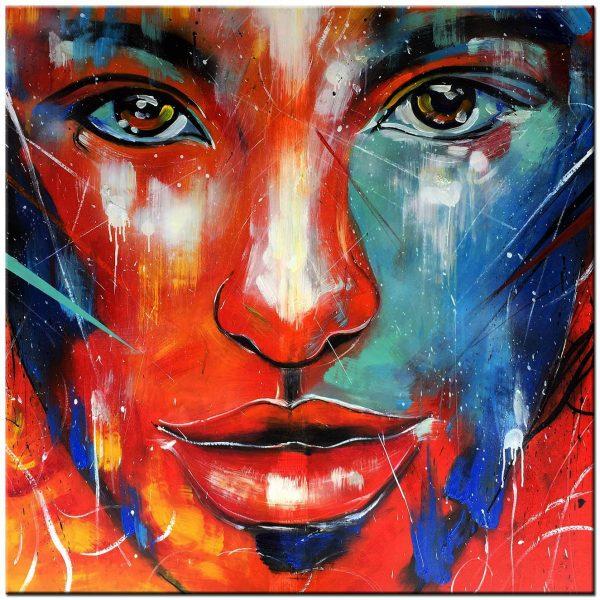 gezicht modern schilderij