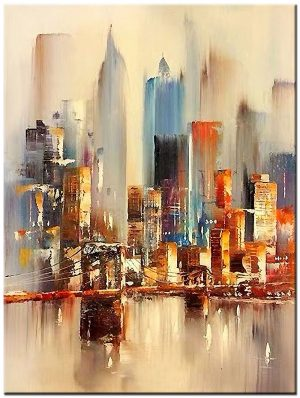 New York skyline modern schilderij