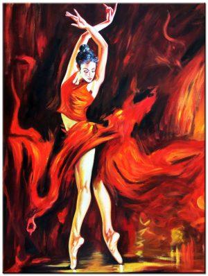 Ballerina schilderij