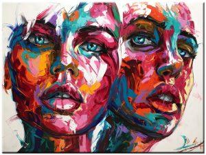 dames modern schilderij