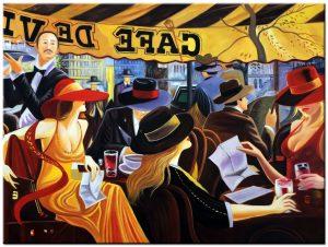 parijs modern schilderij
