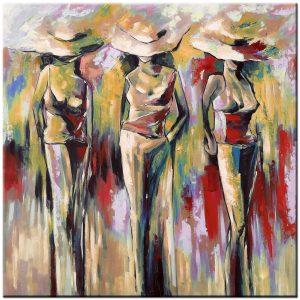 modeshow modern schilderij