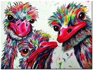 struisvogel schilderij