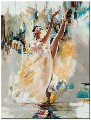 ballet modern schilderij