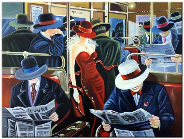 trein modern schilderij