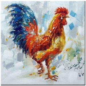 Haan schilderij