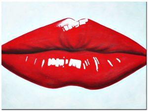 Lippen modern schilderij