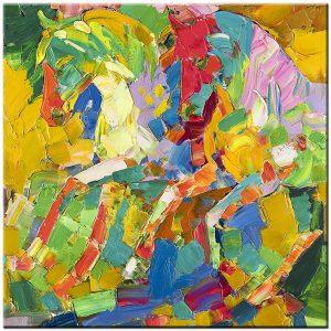 Paarden modern schilderij