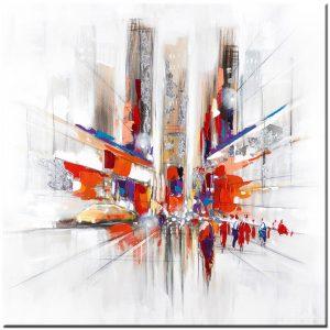 winkelstraat modern schilderij