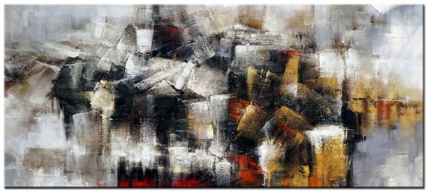abstract modern groot schilderij