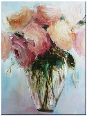 Retro Bloemen schilderij