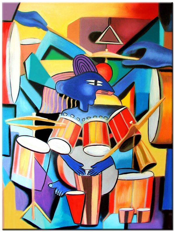 drummen modern schilderij