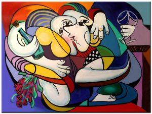 Liefde modern schilderij