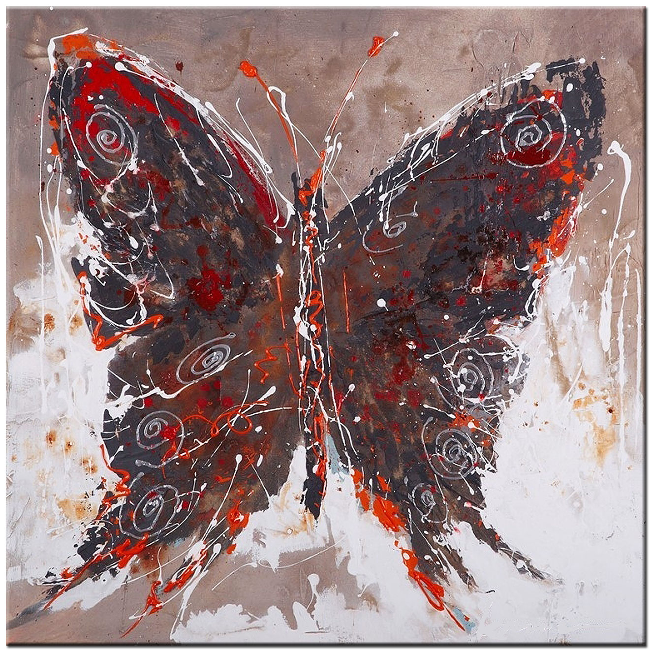 Vlinder modern schilderij