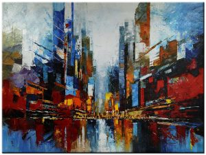 stadsgezicht modern schilderij