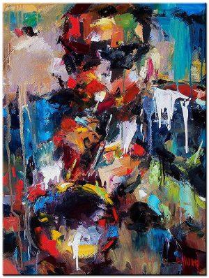 Miles Davis schilderij