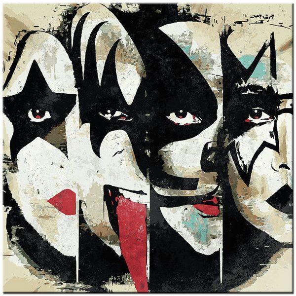 kiss band schilderij