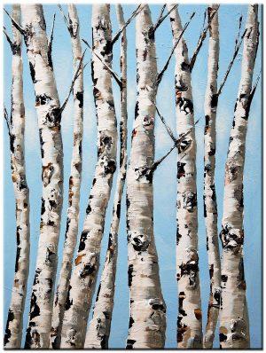 bomen modern schilderij