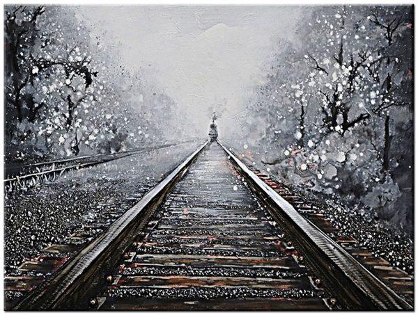 het spoor modern schilderij