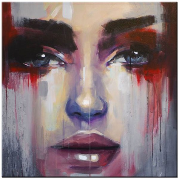 vrouw schilderij