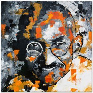 Mahatma Gandhi schilderij