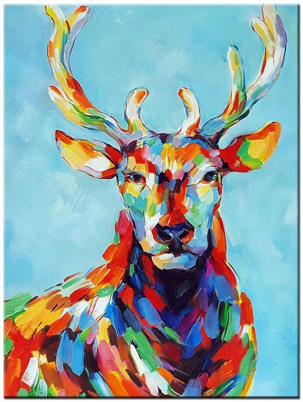 hert modern schilderij