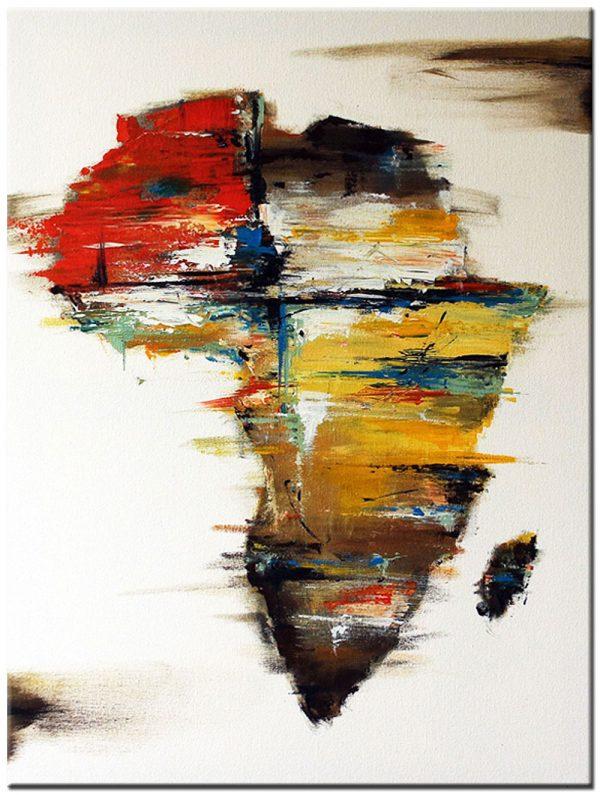 continent Afrika schilderij