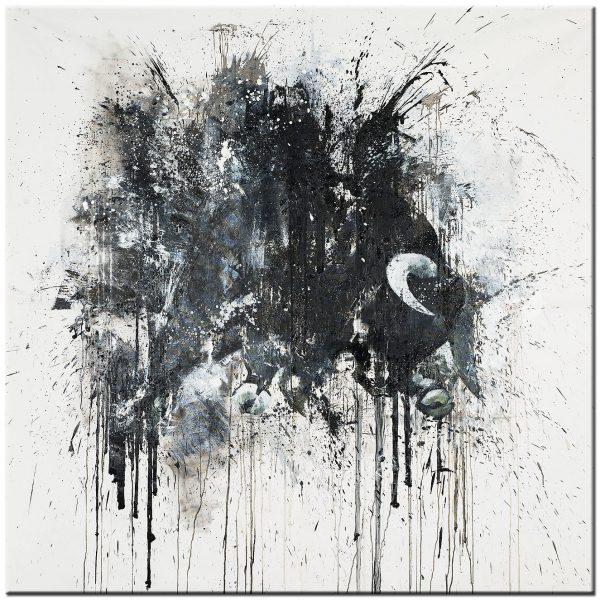 Stier modern abstract schilderij