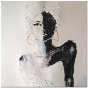 dame Afrika schilderij
