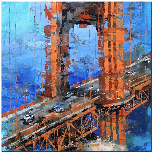 golden gate bridge schilderij