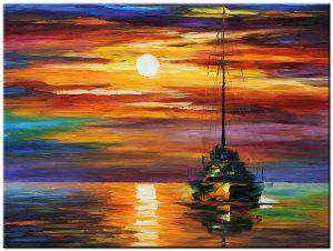 sailing home modern schilderij