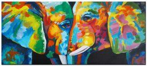 olifant modern groot schilderij
