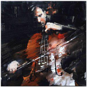 cellospeler schilderij