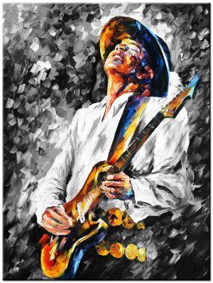 gitaar speler schilderij