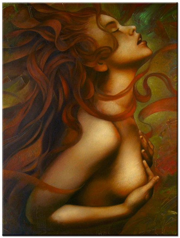 dame erotisch schilderij