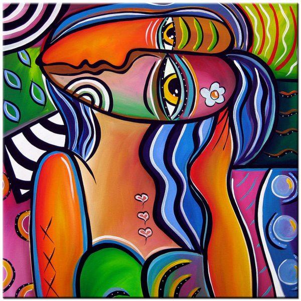 Kissing Faces modern schilderij