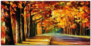 bos modern groot schilderij